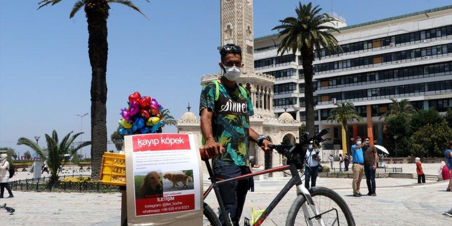 """İranlı gezgin İzmir'de kaybolan """"can dostu"""" köpeğini arıyor"""