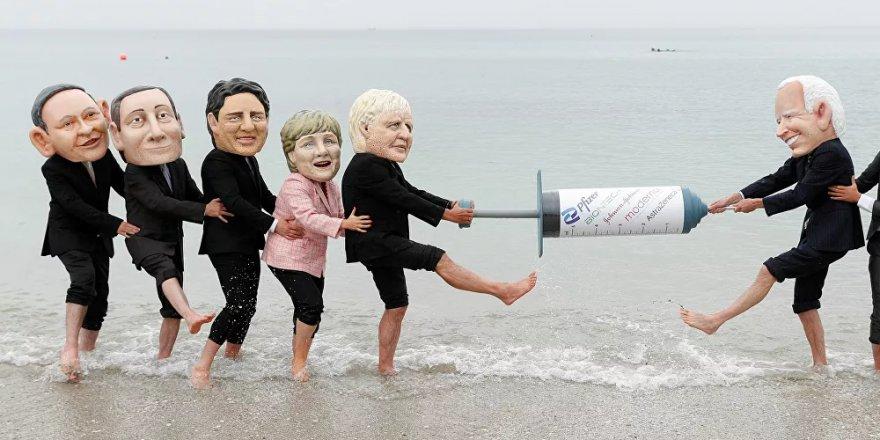 G7 Zirvesi'nde 'küresel aşı eşitsizliği' protestosu