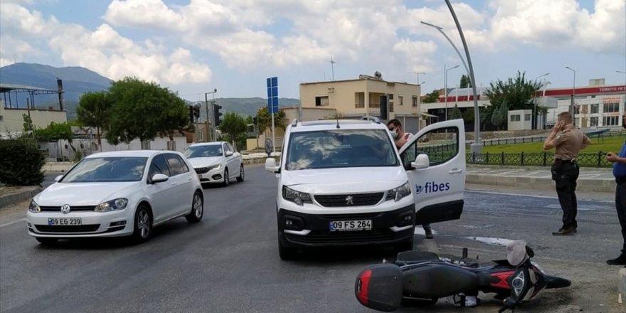 Aydın'da otomobille motosiklet çarpışması sonucu 1 kişi yaralandı