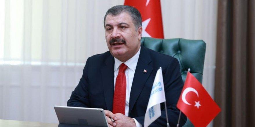 Sağlık Bakanı Koca, son bir haftada her 100 bin kişide görülen Kovid-19 vaka sayılarını açıkladı