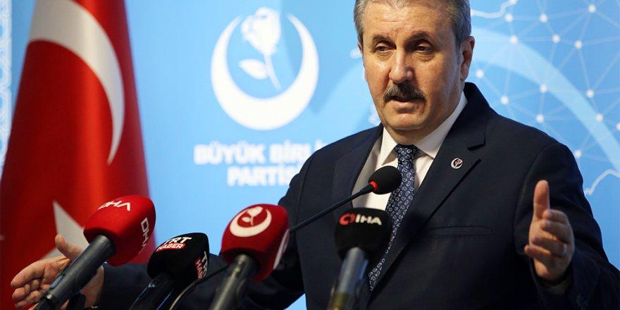 """BBP Genel Başkanı Destici: """"HDP'nin kapatılması için harekete geçilmeli"""""""