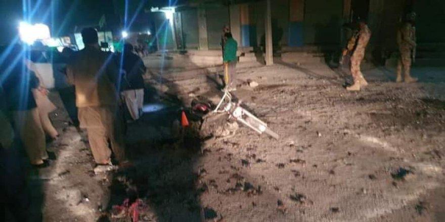 Pakistan'da bomba yüklü motosiklet patladı: 1 ölü, 1 yaralı