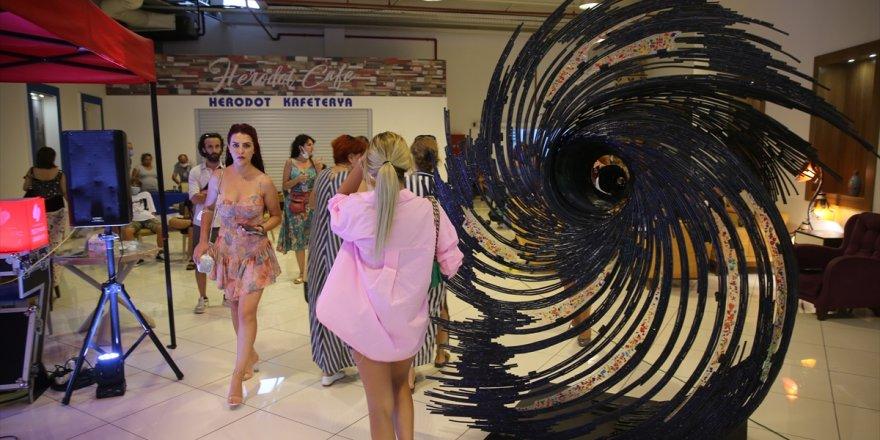 """Bodrum'da """"Sanat ve Antika Fuarı"""" açıldı"""