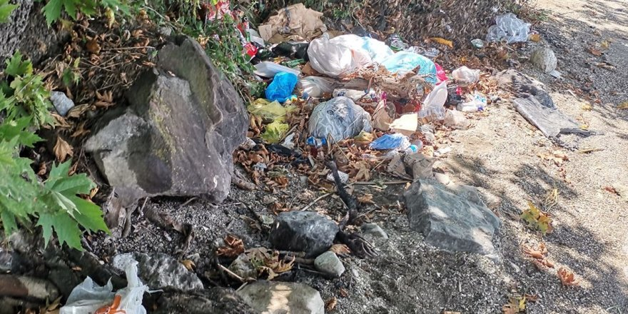 Göl çevresinden onlarca torba atık toplandı