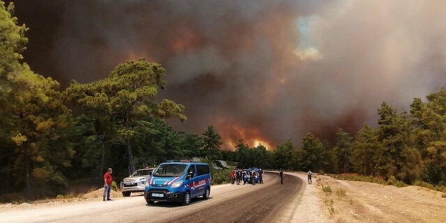 Antalya'da çıkan orman yangınında bir kişi hayatını kaybetti
