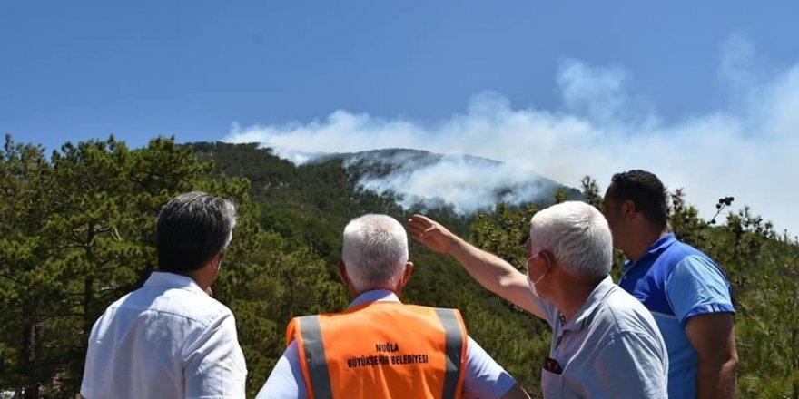 Başkan Gürün, yangın bölgesinde