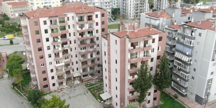 İzmir'in yıkılacak binaları havadan görüntülendi