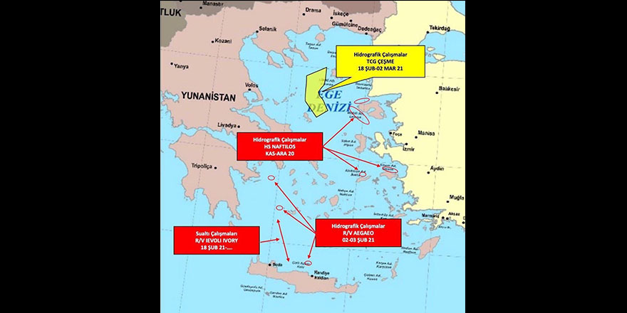Yunanistan'ın Ege'de gerginliği tırmandıran faaliyetleri devam ediyor