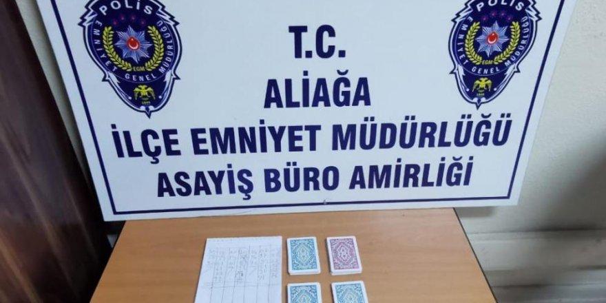 İzmir'de kumar oynanan iş yerine baskın