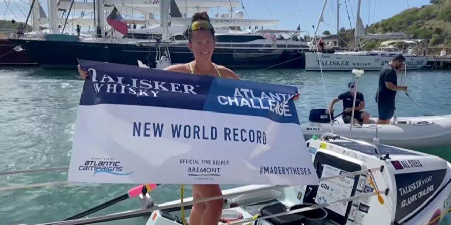 İngiliz kadından rekor: Atlantik Okyanusu'nu kürekle geçen en genç kadın oldu