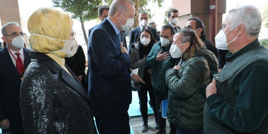 Türkiye Cumhurbaşkanı ve AK Parti Genel Başkanı Recep Tayyip Erdoğan İzmir'de