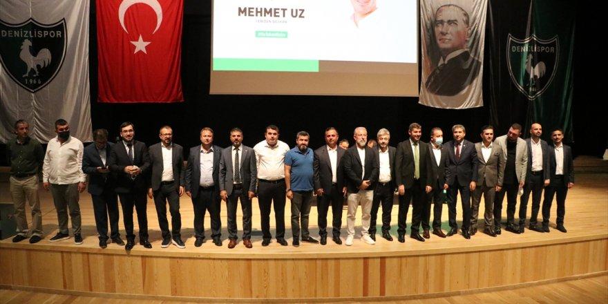 Denizlispor Kulübü Başkanı Mehmet Uz, güven tazeledi