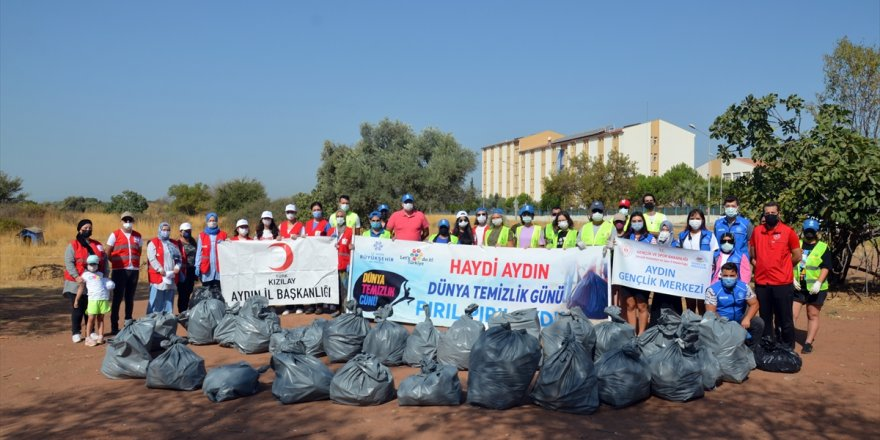 """Aydın'da """"Dünya Temizlik Günü"""" kapsamında çevre temizliği yapıldı"""