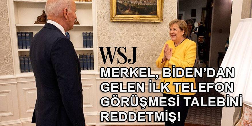 WSJ: Merkel, Biden'den görevdeki ilk telefon görüşmesini reddetti