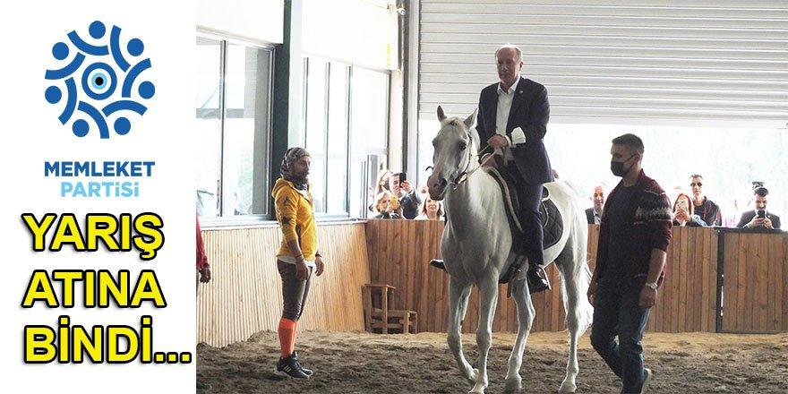 Muharrem İnce, Bandırma'da yarış atına bindi, esnafı gezdi