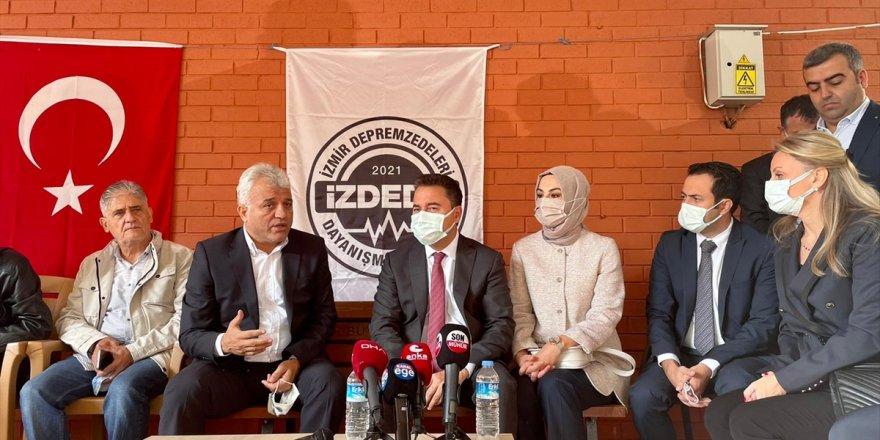 DEVA Partisi Genel Başkanı Babacan, İzmir'de incelemelerde bulundu
