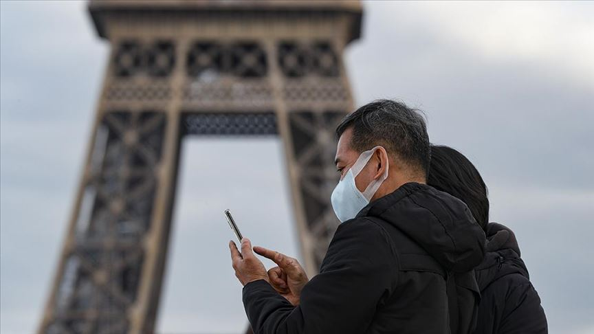 Fransa'da son 24 saatte 20 bin 586 yeni vaka