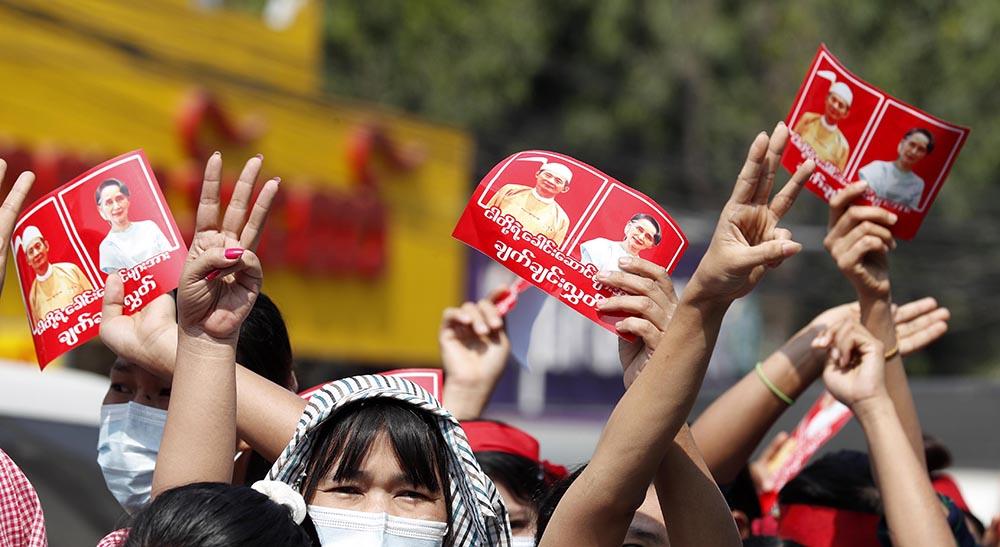 Myanmar'da darbe karşıtı protestolar 2 gününde devam ediyor