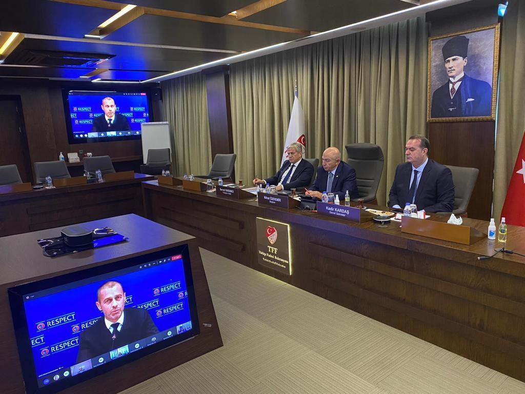 TFF heyeti, UEFA TEP Toplantısı'na katıldı
