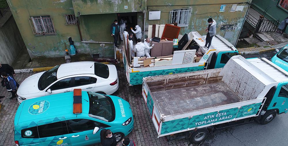 İki gün boyunca süren temizlikte yaklaşık 7 kamyon çöp çıkarıldı!