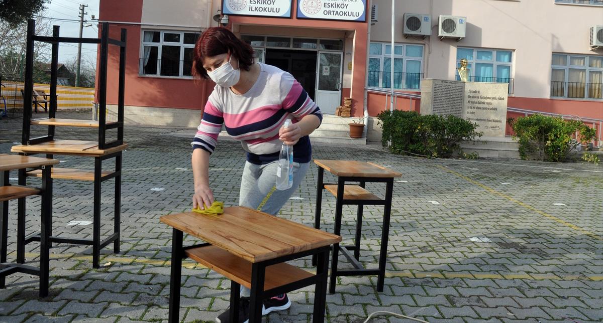 Ortaca'nın köy okullarında yüz yüze eğitime hazırlık heyecanı yaşanıyor