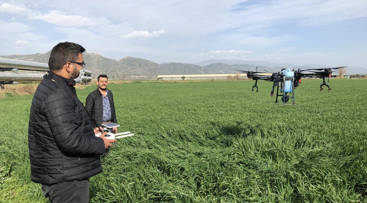 Aydın'da tarım arazileri drone ile ilaçlanabilecek