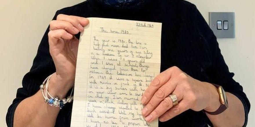 İngiltere'de 1969'da küçük bir kızın yazdığı ve gerçekleşen kehanetleri içeren bir mektup ortaya çıktı